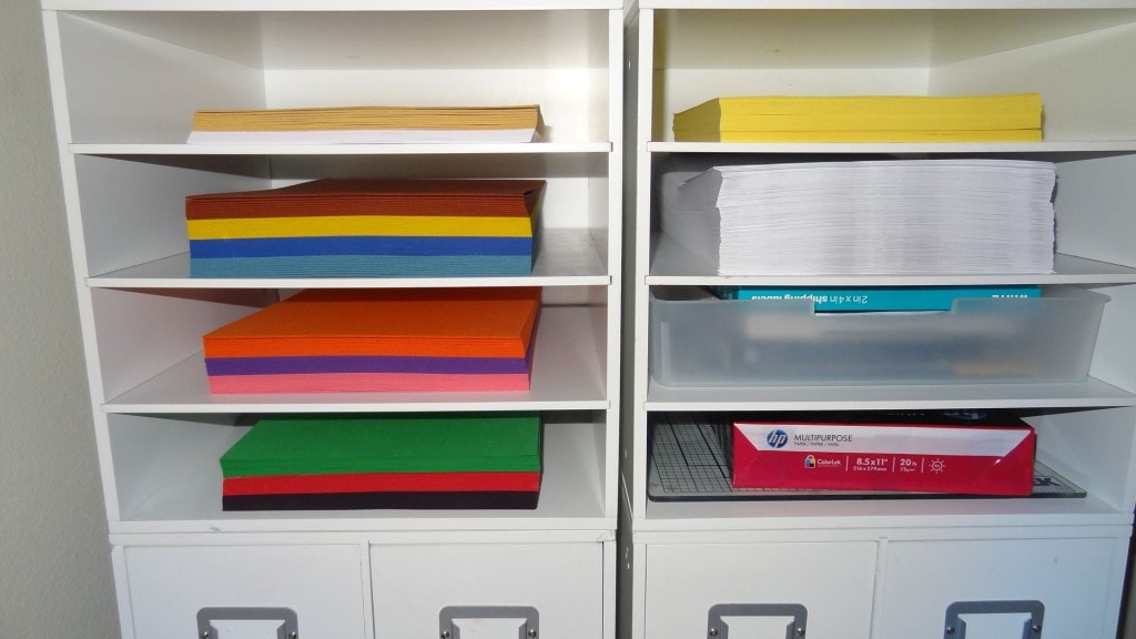 organized print paper and school paper