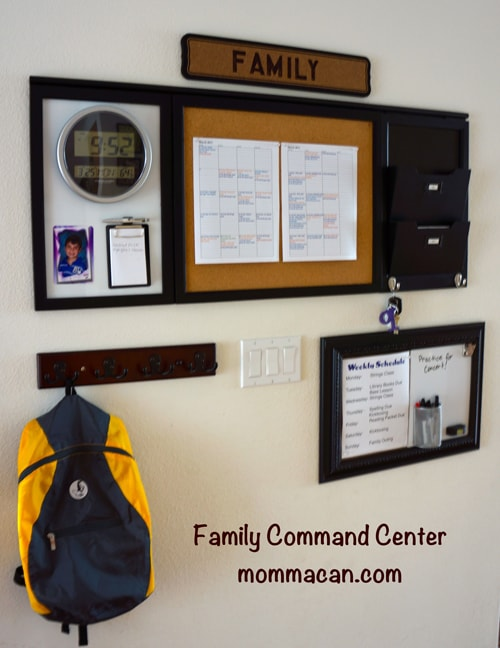 Spring Dream and Clean 2013 – Family Command Center Finished