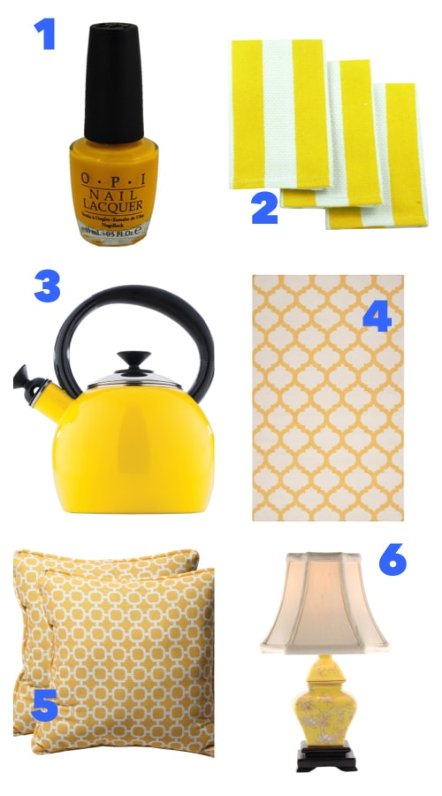 A Few Joyful Yellow Accents