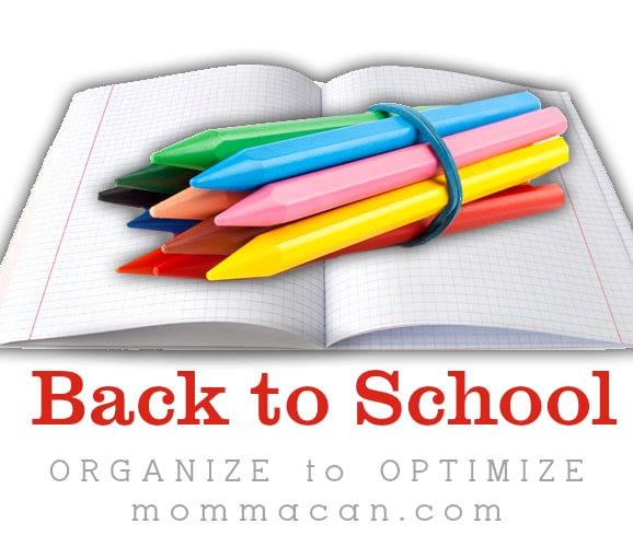 organize back to school
