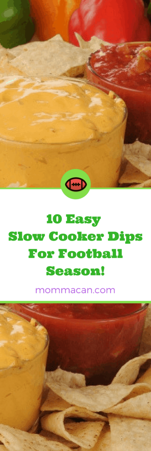 Grab these 10 Easy Slow Cooker Dips For Football Season! and learn about our favorite gear to get them ready for the party!
