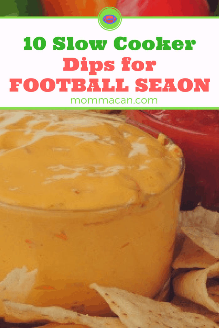 Grab these before the BIG GAME! 10 Slow Cooker Dips for Football Season