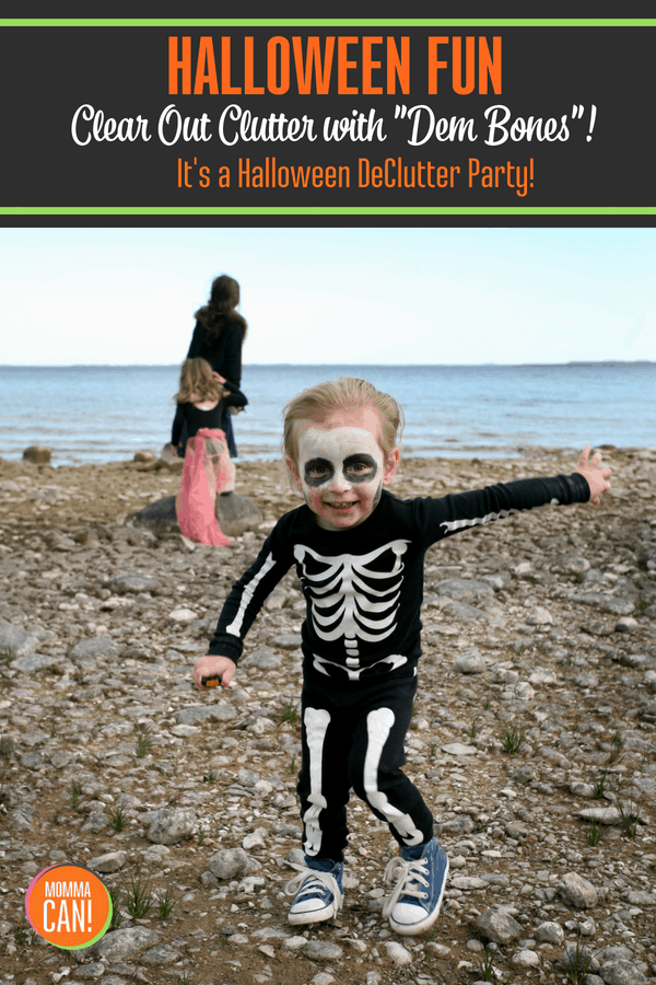 "Halloween is an exciting time of the year. It also creates a little more chaos in already busy households. Combat chaos with a little decluttering dance party to ""Dem Bones""."