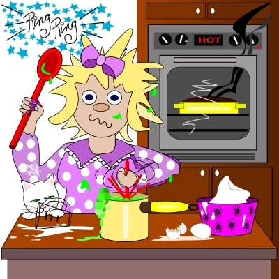 Stressed Out Mom in Kitchen
