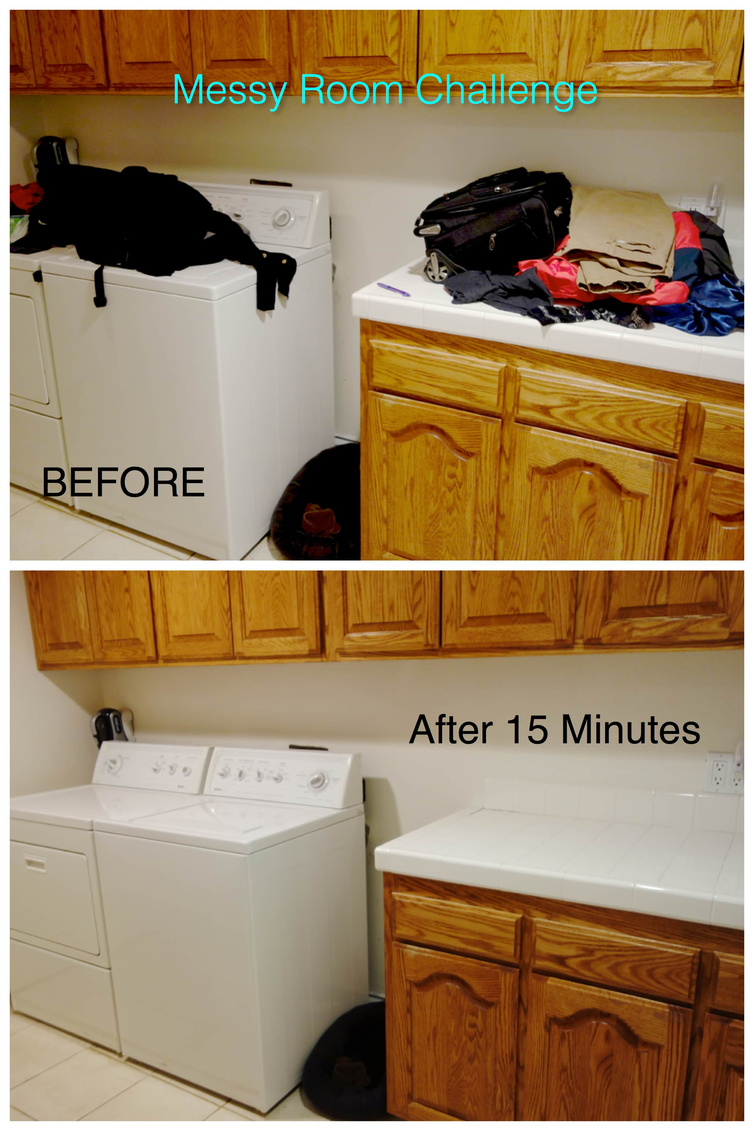 Messy Laundry Room Challenge Before and After Photos