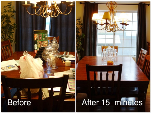 Before And After Messy Dining Room Photo
