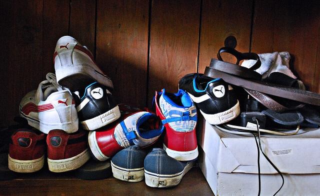 clutter, shoe clutter