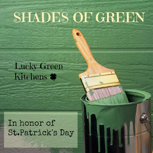 Shades of Green In The Kitchen In Honor of St. Patty's Day