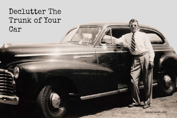 Declutter the trunk of Your Car