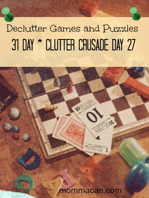 declutter board games, card games and puzzles
