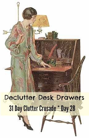 31 Day Clutter Crusade – Day 28 – Desk Drawers