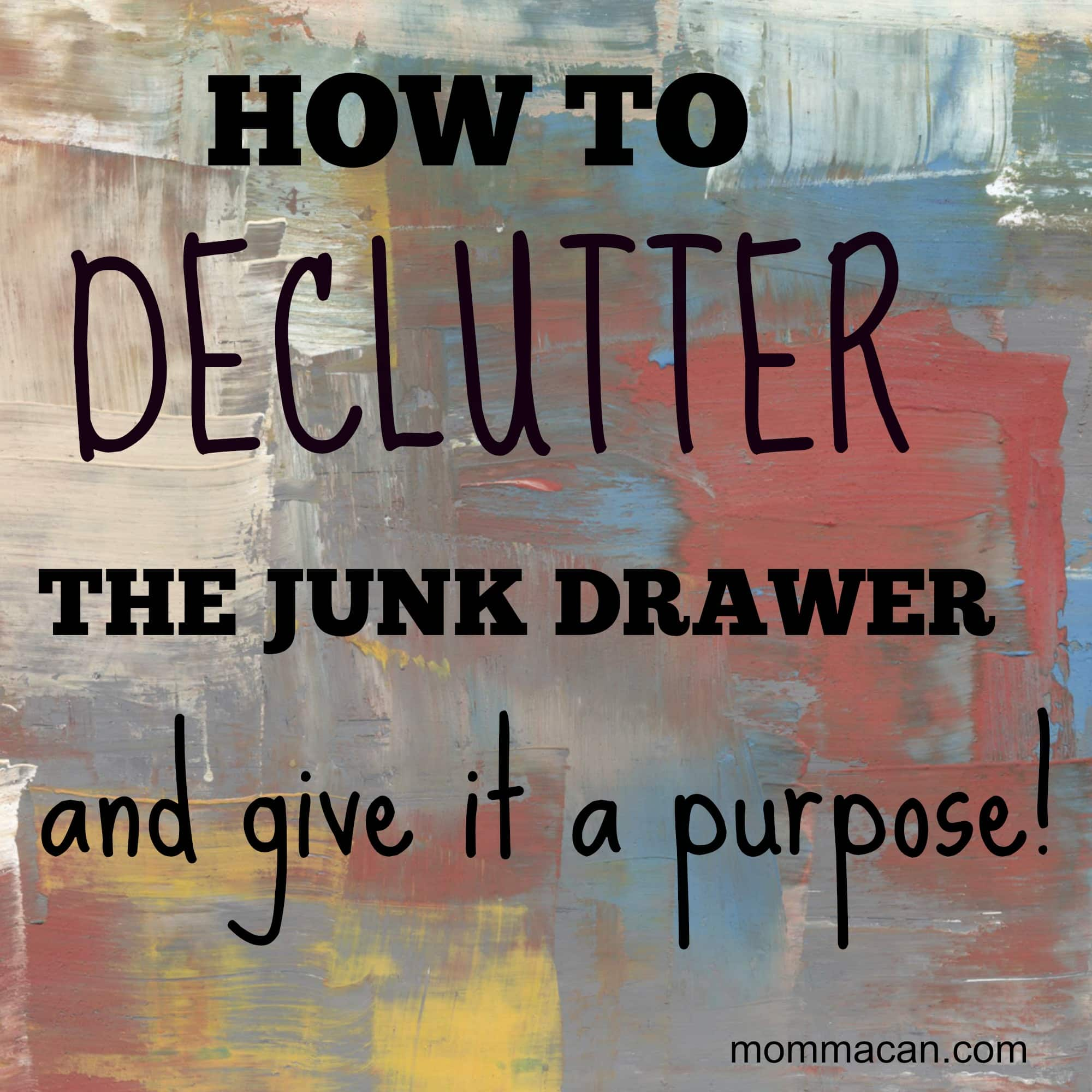 31 Day Clutter Crusade – Day 25 – The Junk Drawer