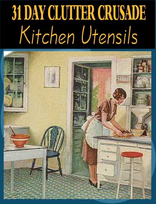 kitchenutensils - how to declutter