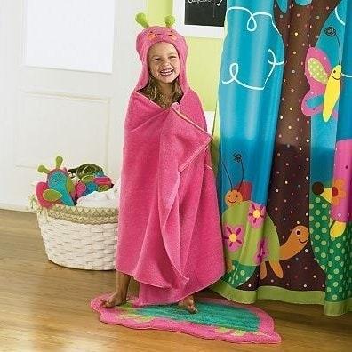 pink hooded towel