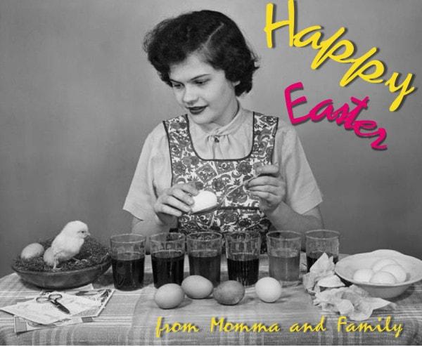 Happy Easter Vintage Photo