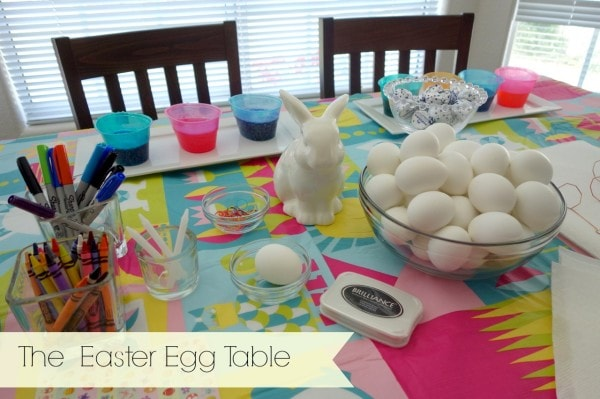 the easter egg table