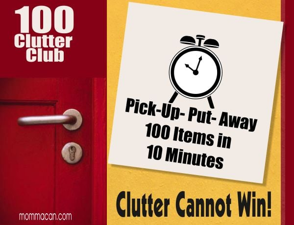 100 Clutter Club - Because Clutter Causes Stress