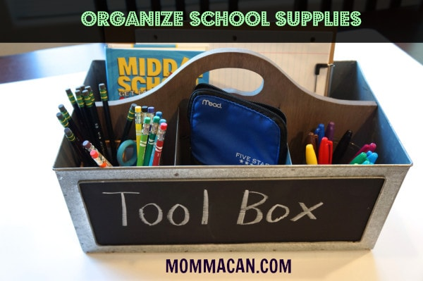 School Supplies tool box