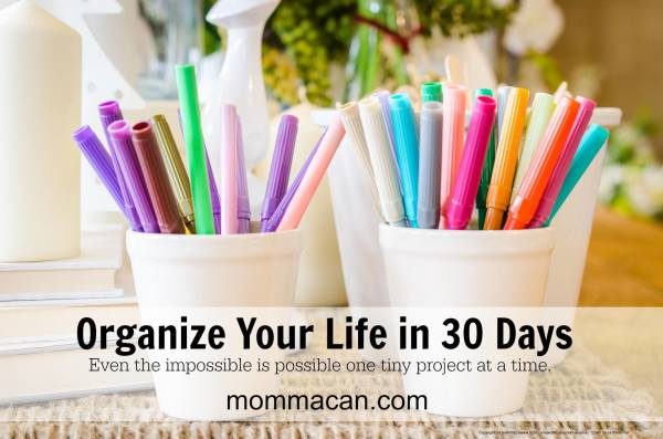 Organize Your Life In 30 Days- Mommacan.com