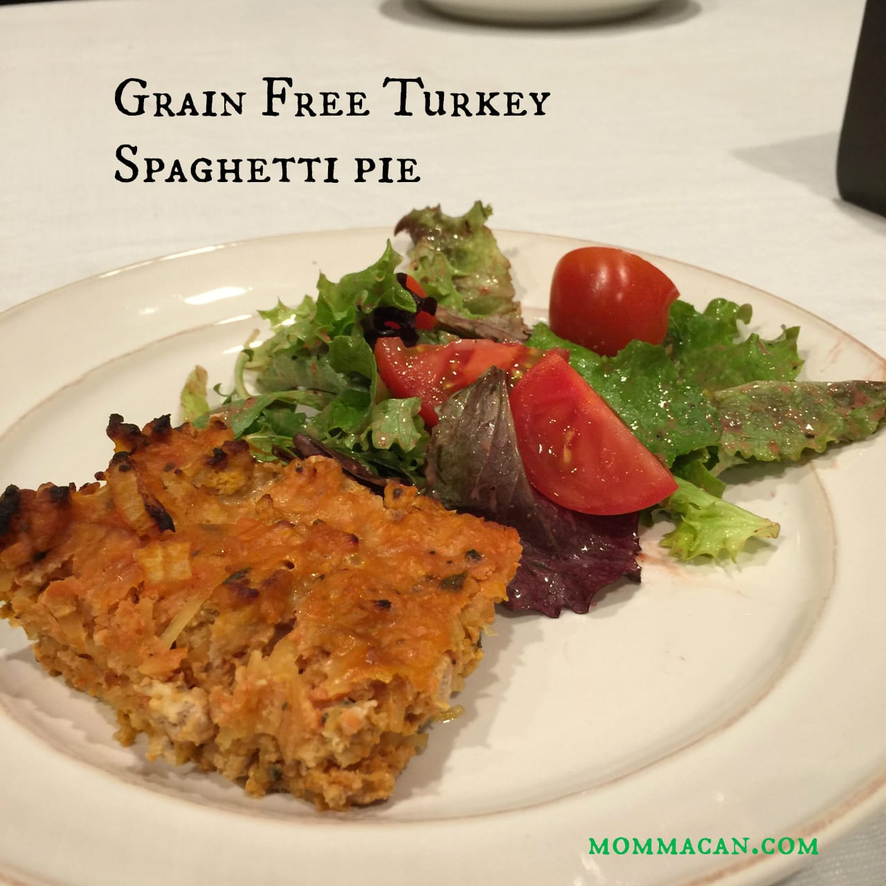 Recipe: Grain Free Ground Turkey Spaghetti Pie