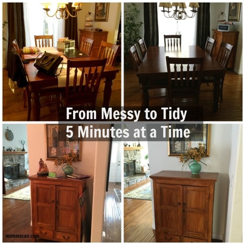 From Messy to Tidy 5 Minutes at a Time, the Dining Room