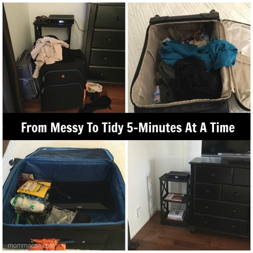 Messy to Tidy 5 Minutes at A time Suitcases