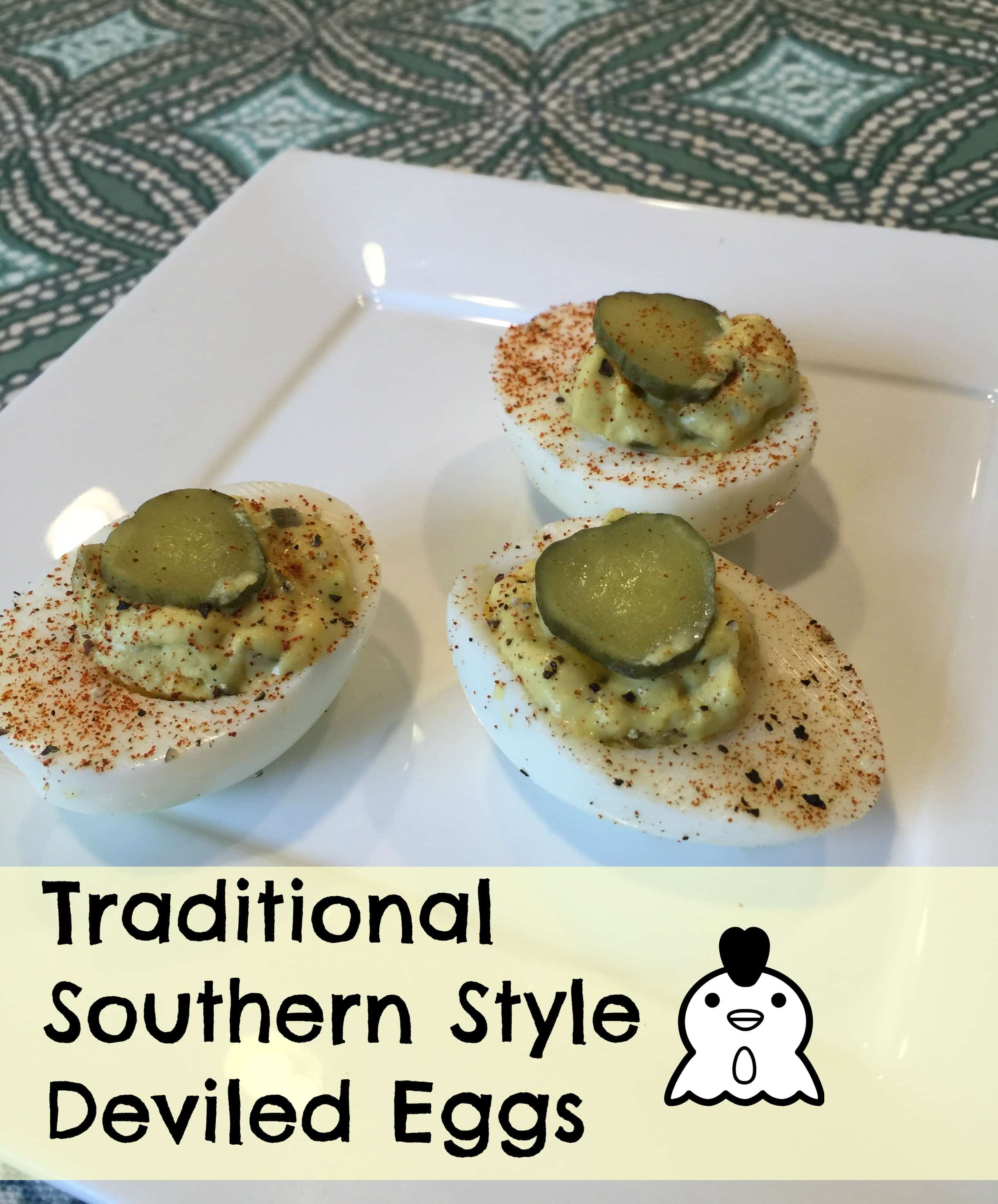 Traditional Southern Style Deviled Eggs