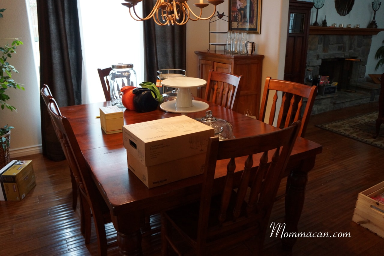Busy Mom, Busy Life, Messy House – Dining Room -Party Planning Stress