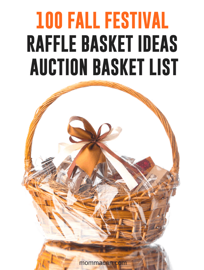 100 Fall Festival Raffle Basket Ideas - Auction Basket List | The best baskt ideas list. Raffles and Fundrasier Ideas for Gift Baskets