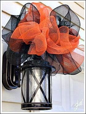 Mesh Ribbon Decor for Halloween