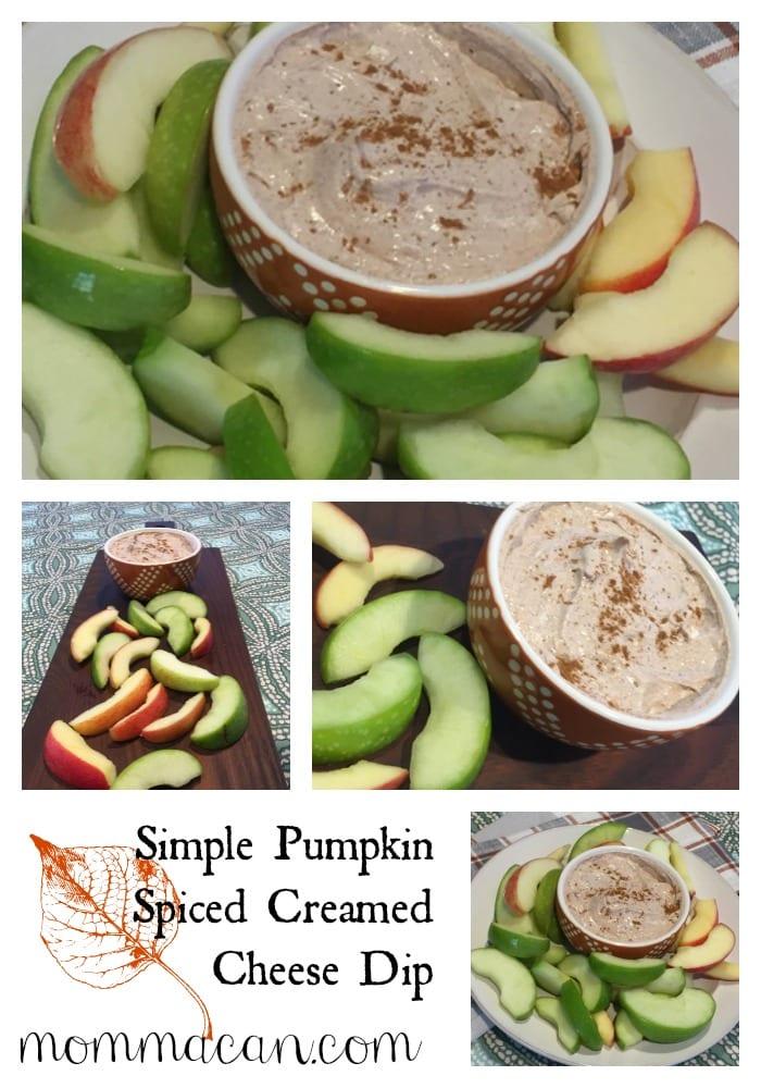 Super Simple Pumpkin Spiced Creamed Cheese Spread – Dip – Low Sugar Option