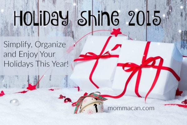 Menu Plan for The Week, Holiday Shine Updates and My Favorite Things