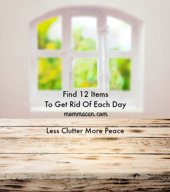 12 Items Each Day to Be Clutter Free