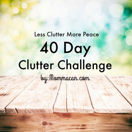 40 Day Clutter Challenge