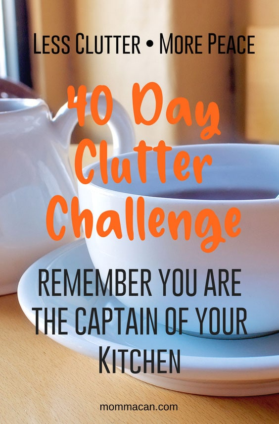 40-Day-Clutter-Challenge-Captain-of-Your-Kitchen | Declutter Kitchen Challenge