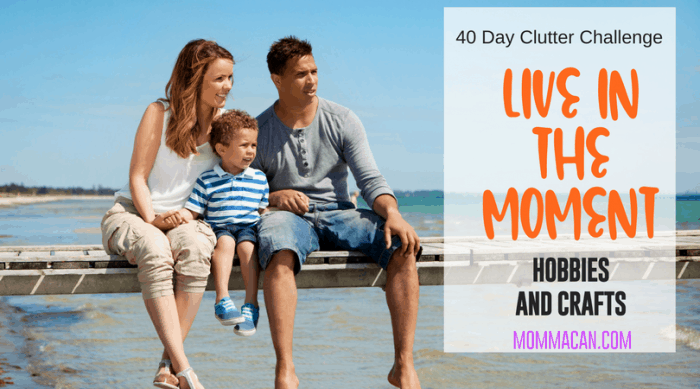Living In the Moment is so important in busy families. Mommacan.com