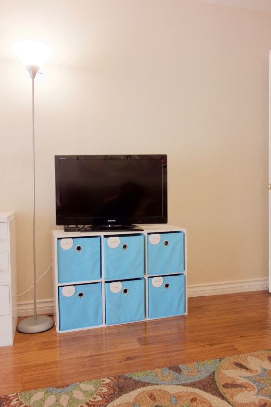 6 cube organizer television stand