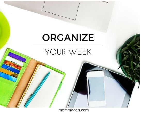 ORGANIZE YOUR WEEK, MENU PLAN, CLEANING LIST, WEEKLY PLANNING