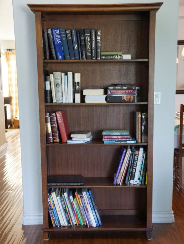 Before Photo of Book Shelf