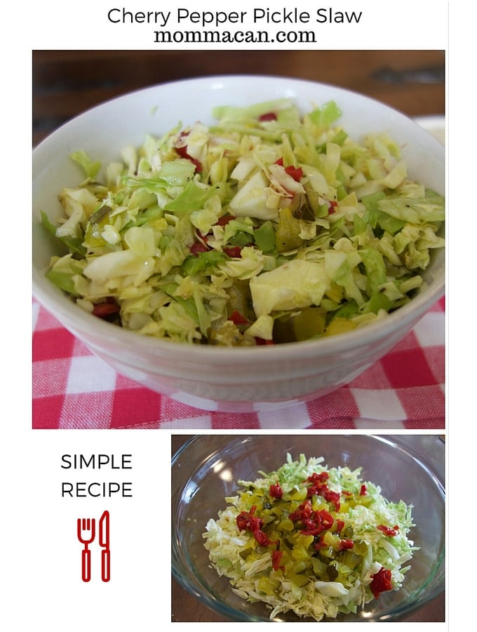 Recipe: Cherry Pepper Pickles Slaw
