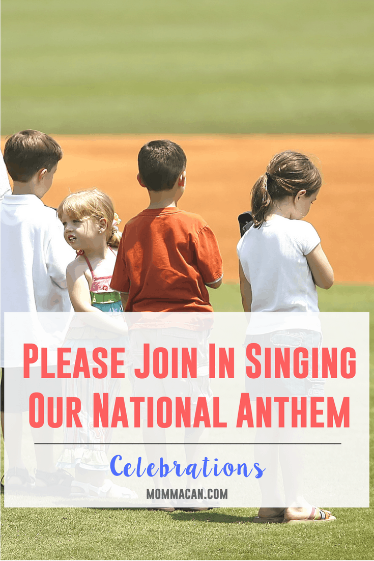 Please Join In Singing Our National Anthem - Read this and find out how to really enjoy our wonderful National Anthem and warm up those pipes and SING!