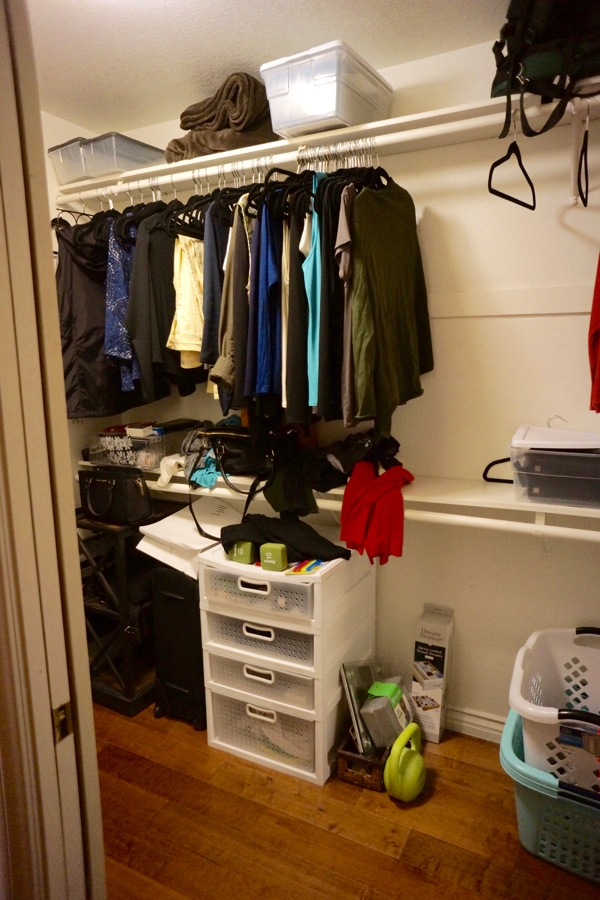 Organized My Messy Closet - 1-2-3- This closet is messy but will soon be organized in 3 Easy Steps.