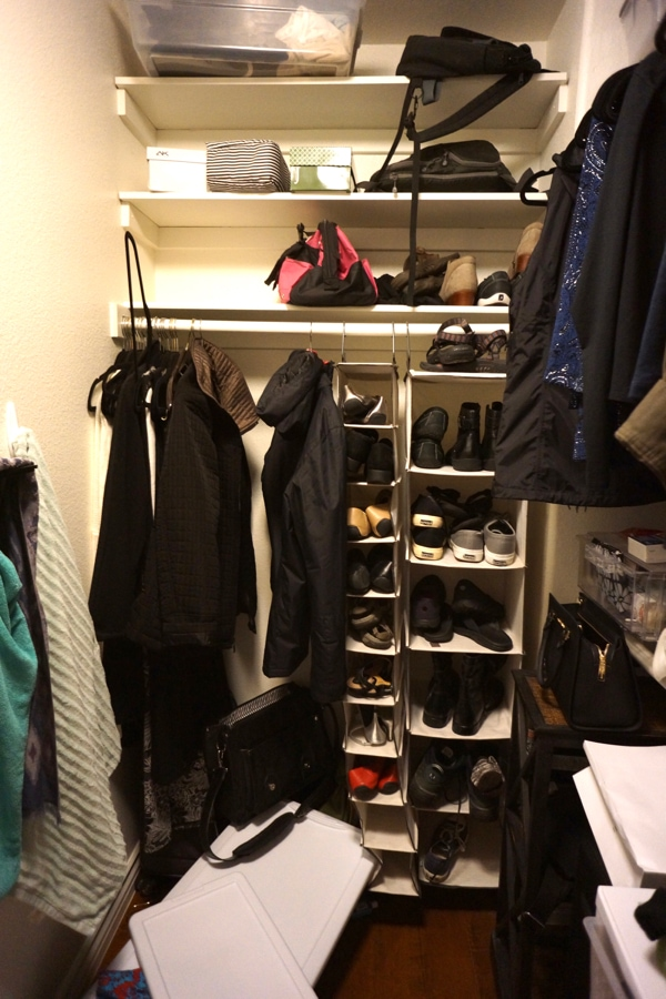 Yikes~ My messy closet is a real mess. I am so glad I am taking the time to get it organized!