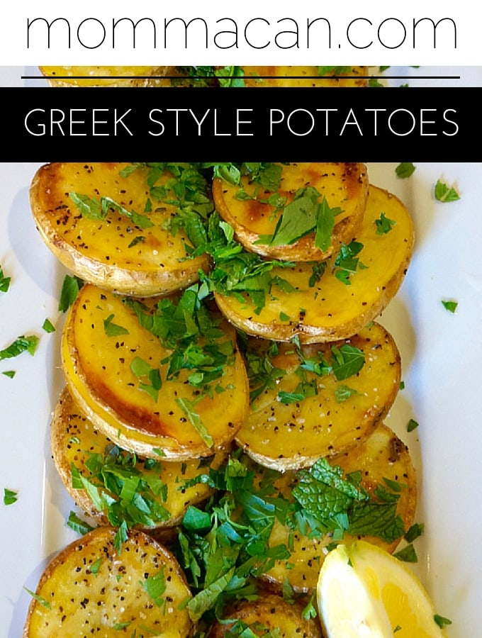 Greek Style Potatoes with Lemon and Fresh Parsley