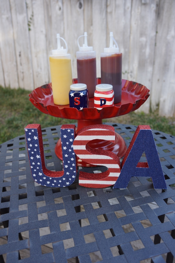 4th of July Decorations - BBQ Condiment Tray