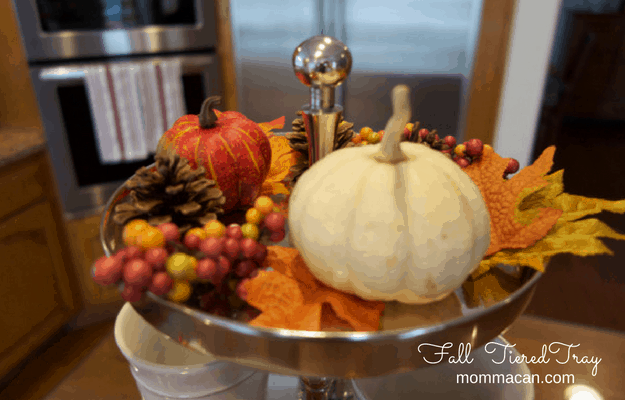 Fall Tiered Tray - Top Shelf - Fall Foliage