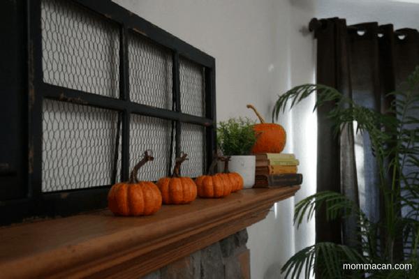 Love this pie cupboard door with the pumpkins and vintage cookbooks