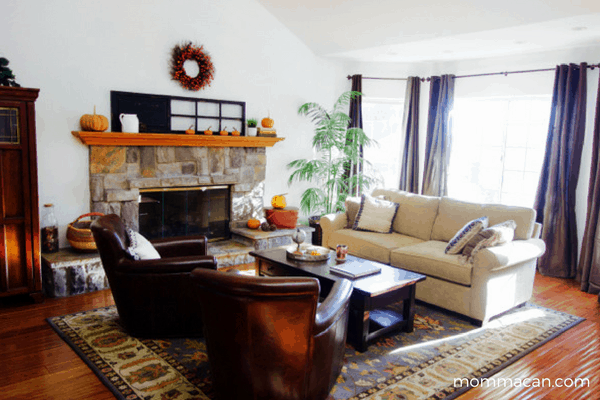 festive-fall-home-tour-living-room-with-vintage-baskets-and-pottery-barn-furniture-mommacan-com