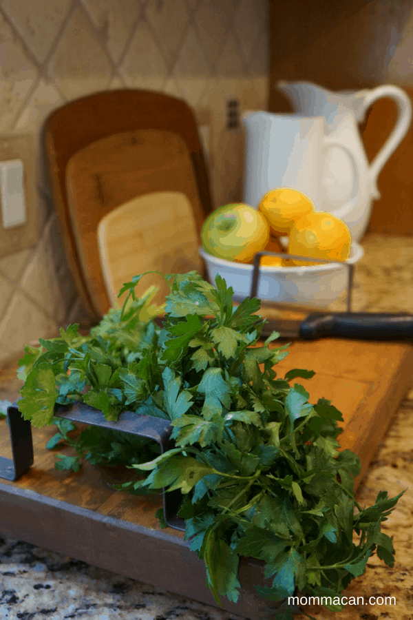 festive-fall-home-tour-kitchen-with-parsley-and-white-pitchers-mommacan-com