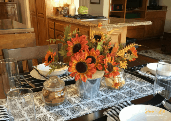 Dollar Store Fall Table Scape
